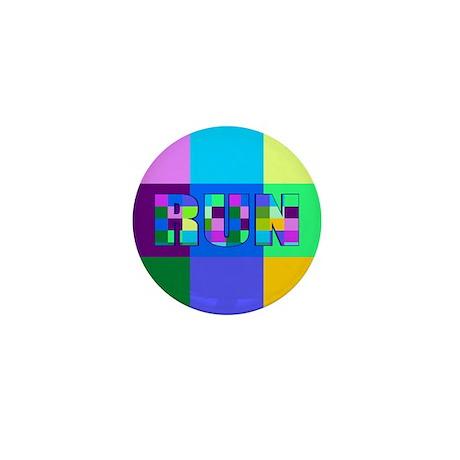 Run Squares Mini Button (10 pack)