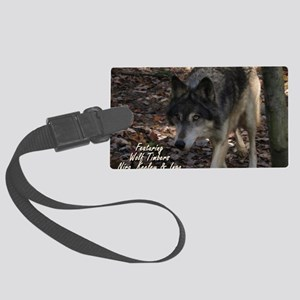 WOLFcalendar13 Large Luggage Tag