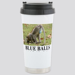 BLUE BALLS2 Stainless Steel Travel Mug
