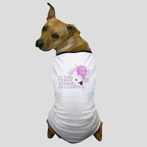 Queen Blk Hat Dog T-Shirt