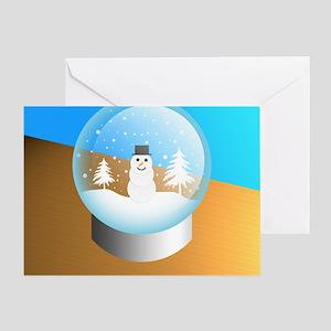 snowglobe Greeting Card