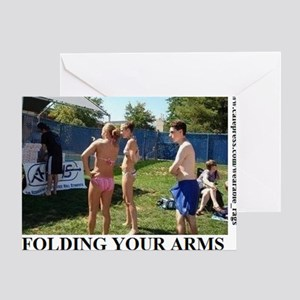 FOLDING YOUR ARMS2 Greeting Card