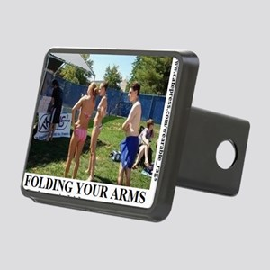 FOLDING YOUR ARMS2 Rectangular Hitch Cover