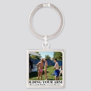 FOLDING YOUR ARMS2 Square Keychain