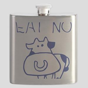 Eat no cow - blueb Flask