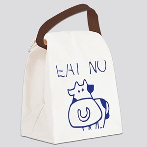 Eat no cow - blueb Canvas Lunch Bag