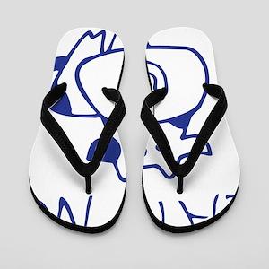 Eat no cow - blueb Flip Flops