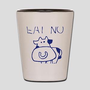 Eat no cow - blueb Shot Glass