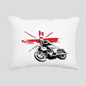 union jack cafe racer Rectangular Canvas Pillow