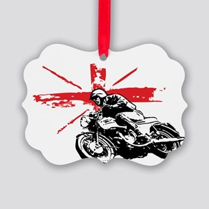 union jack cafe racer Picture Ornament