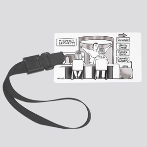 Airport_Security_Jenny_Craig Large Luggage Tag