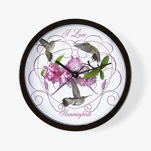 I love hummingbirds 2 Wall Clock