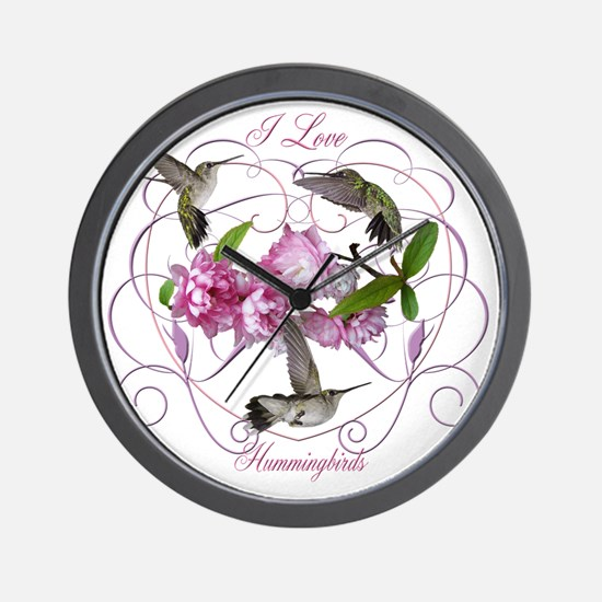 I love hummingbirds 2 Wall Clock