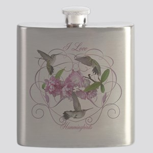 I love hummingbirds 2 Flask