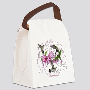 I love hummingbirds 2 Canvas Lunch Bag