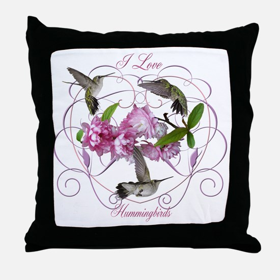 I love hummingbirds 2 Throw Pillow