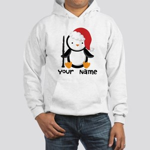 Personalized Christmas Clarinet Penguin Hoodie