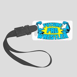 Future Pro Wrestler Blue Small Luggage Tag