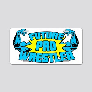 Future Pro Wrestler Blue Aluminum License Plate