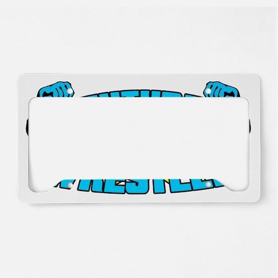 Future Pro Wrestler Blue License Plate Holder