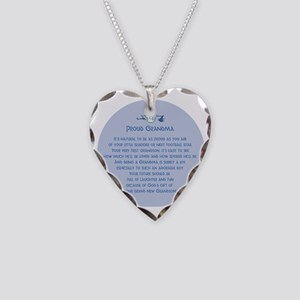 Proud Grandma Ornament Necklace Heart Charm