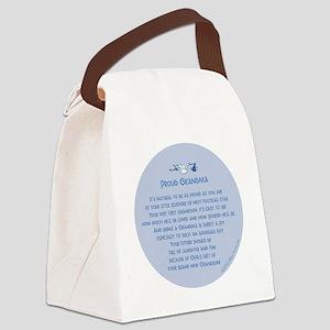Proud Grandma Ornament Canvas Lunch Bag
