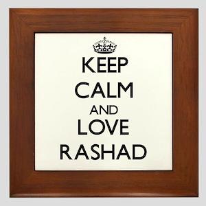 Keep Calm and Love Rashad Framed Tile