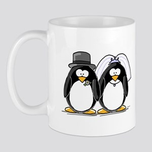 Bride and Groom Penguins Mug