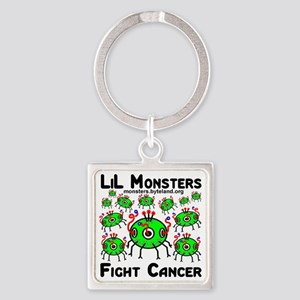 12monster_crafts_fight_cancer Square Keychain
