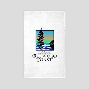 Californias Redwood Coast 3'x5' Area Rug