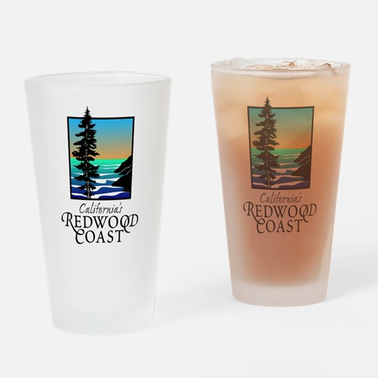 Californias Redwood Coast Drinking Glass