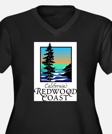 Californias Redwood Coast Plus Size T-Shirt