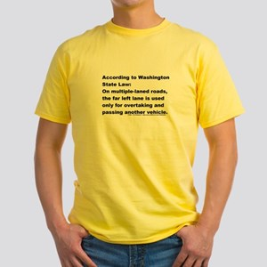 Keep Right - Yellow T-Shirt