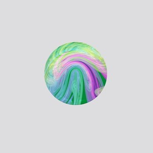 cotton candy colors marble  textures a Mini Button