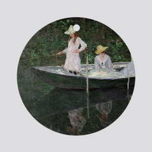 The Boat at Giverny, c.1887  by Cla Round Ornament