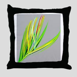 elegant peacock feather abstract art Throw Pillow