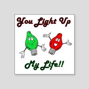 "lightup Square Sticker 3"" x 3"""