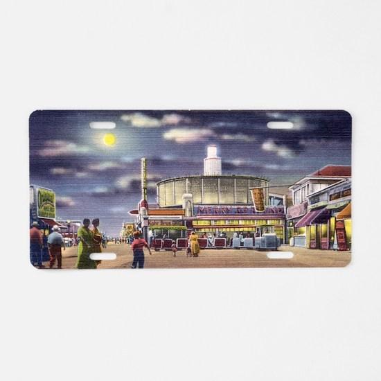 boardwalk playland Aluminum License Plate