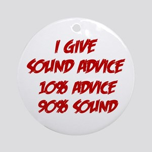 Sound Advice Ornament (Round)