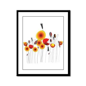 Contemporary California Poppies Framed Panel Print