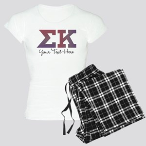 Sigma Kappa Letters Women's Light Pajamas