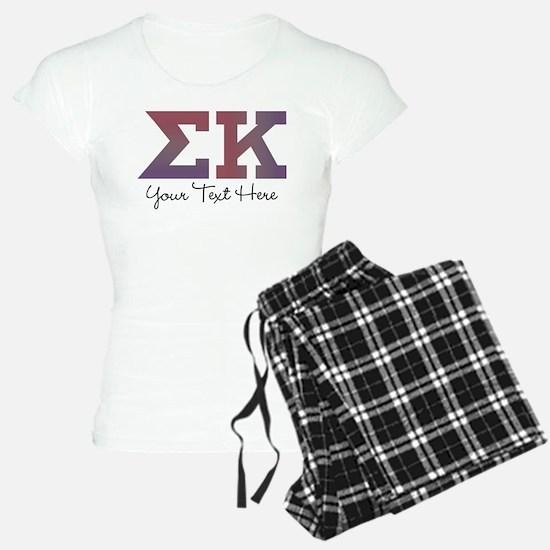 Sigma Kappa Letters Pajamas