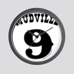 Mudville9 (black) Wall Clock