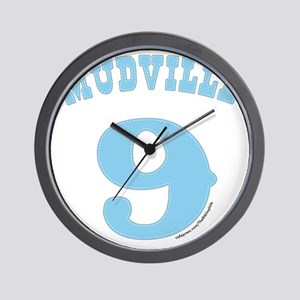 Mudville9 (baby blue) Wall Clock
