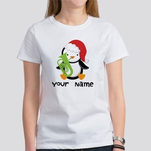 Personalized Christmas Tuba Music T-Shirt