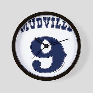 Mudville9 (blue) Wall Clock