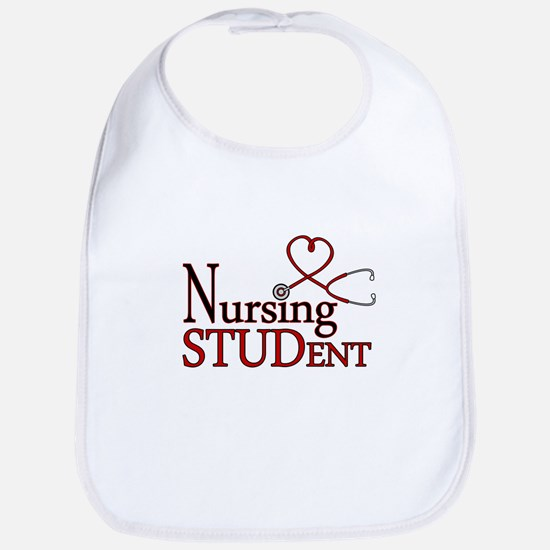 Nursing Student Cute Heart Stethoscope Bib
