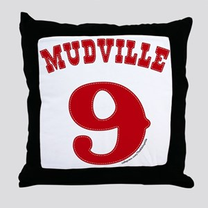 Mudville9 (red) Throw Pillow