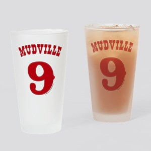 Mudville9 (red) Drinking Glass