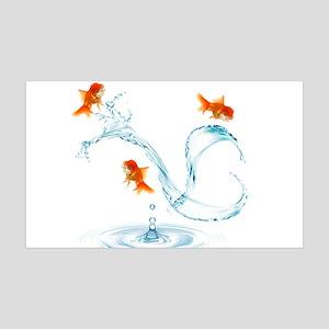 Splashing Fish 35x21 Wall Decal